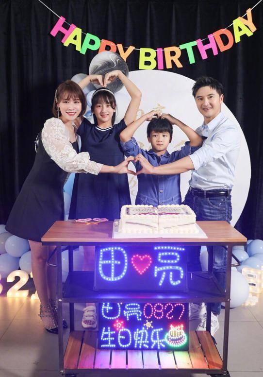 妻儿庆祝田亮42岁生日 叶一茜主动亲吻 网友:神仙爱情