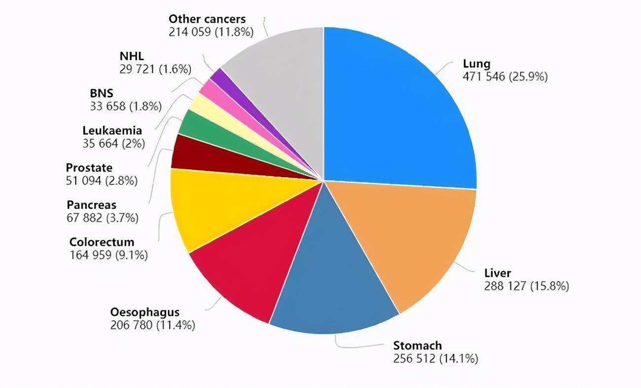 《柳叶刀》 中国癌症新发和死亡人数全球第一:23个常见的致癌因素