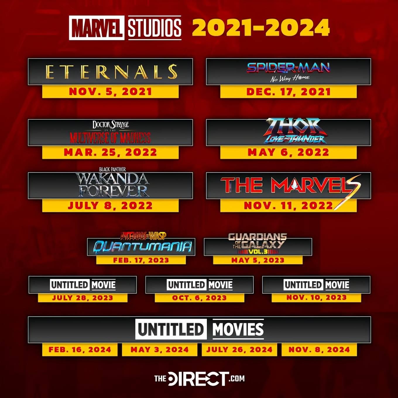 2021上映的电影名单表 2021电影上映时间表全部