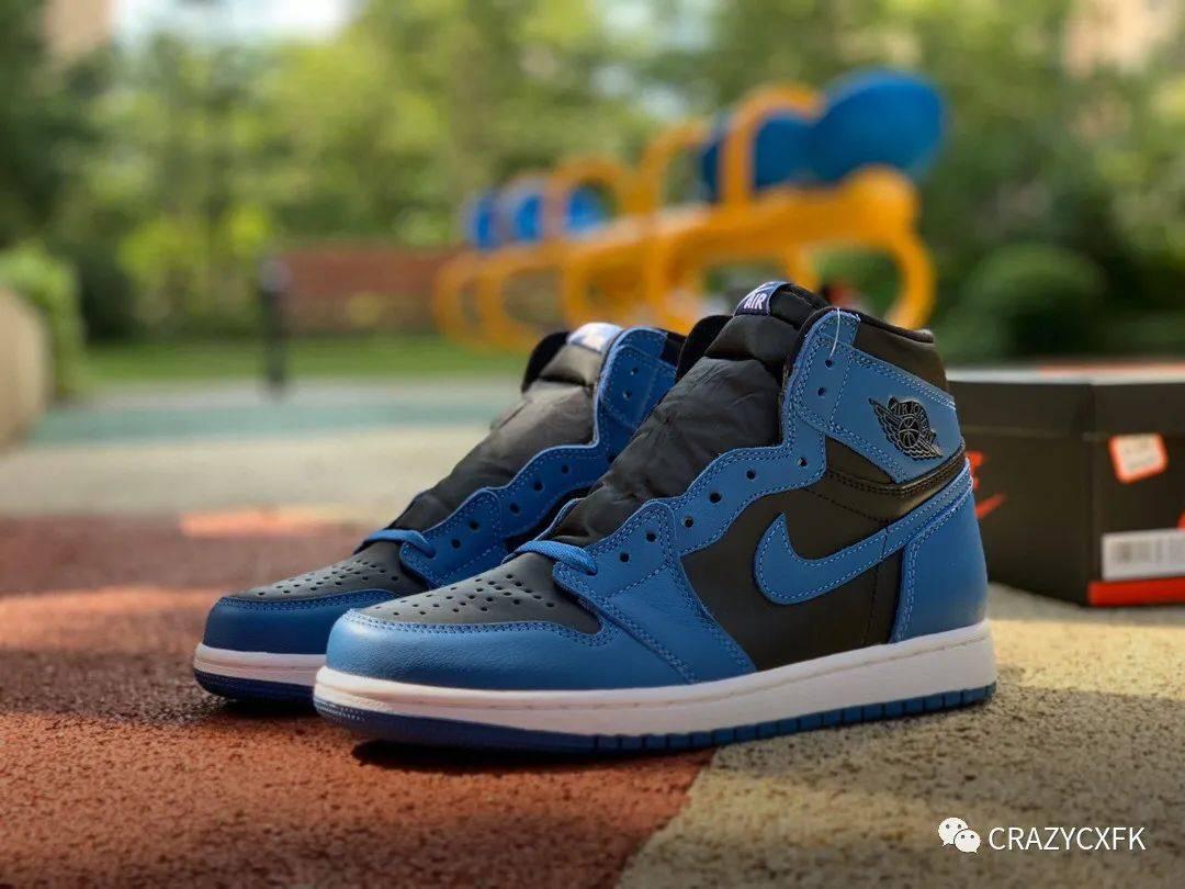 乔丹皇家蓝 Air Jordan 1 High OG Dark Marina Blue 高帮运动鞋