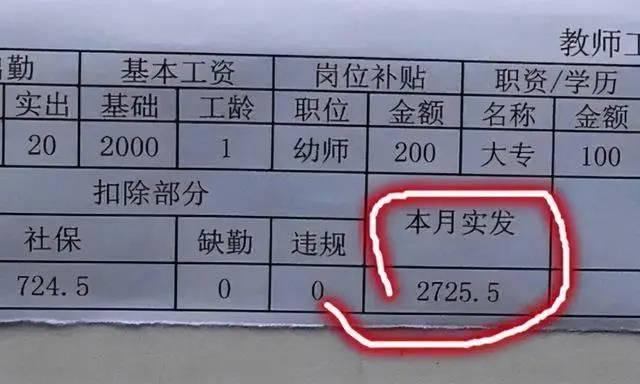 教师工资单火了,多名教师晒出工资单,网友们表示无法淡定!!