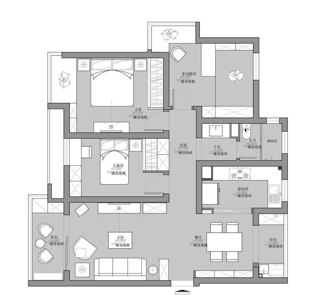 清新美式三居室,精致又复古,足以展现生活的美好与悠然