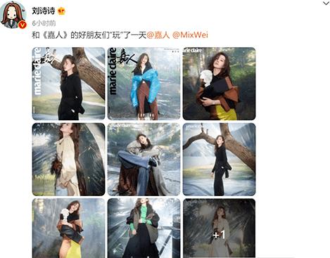 """刘诗诗登上《嘉人》十一月刊封面:她身上有一种""""稳得住""""的力量"""