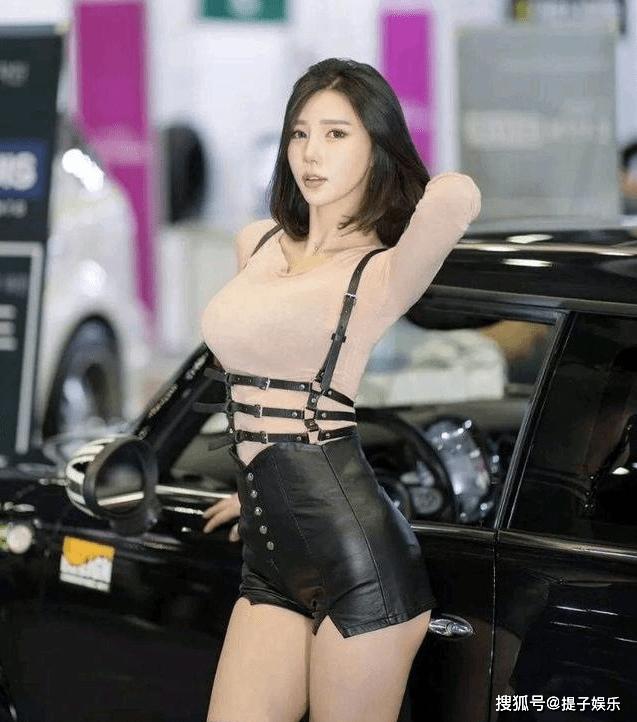韩国美女车模,模样甜美身材火辣,百看不厌(图5)