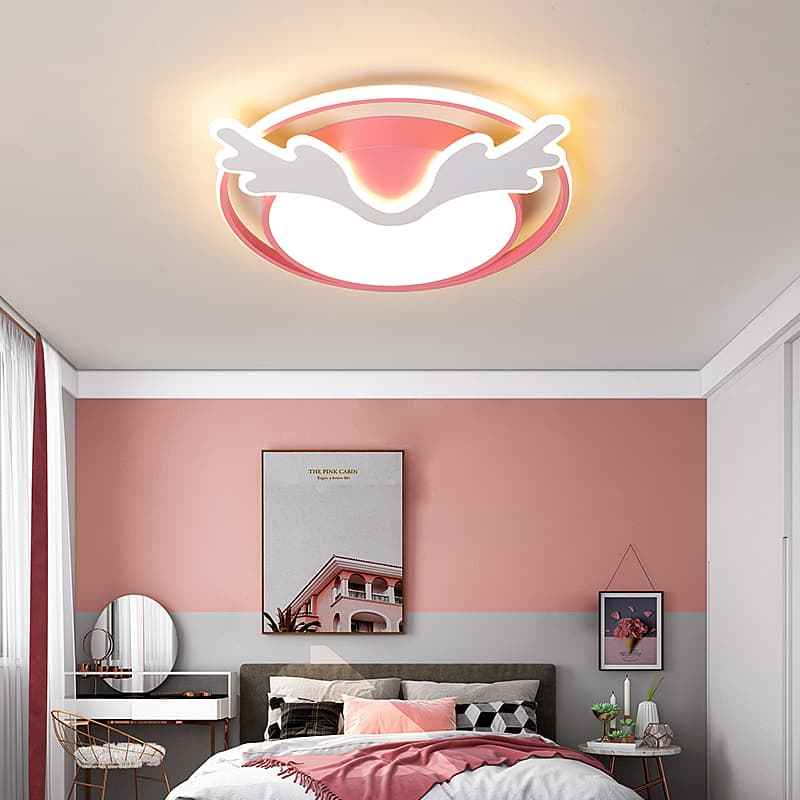 粉红色麋鹿儿童吸顶灯 04308