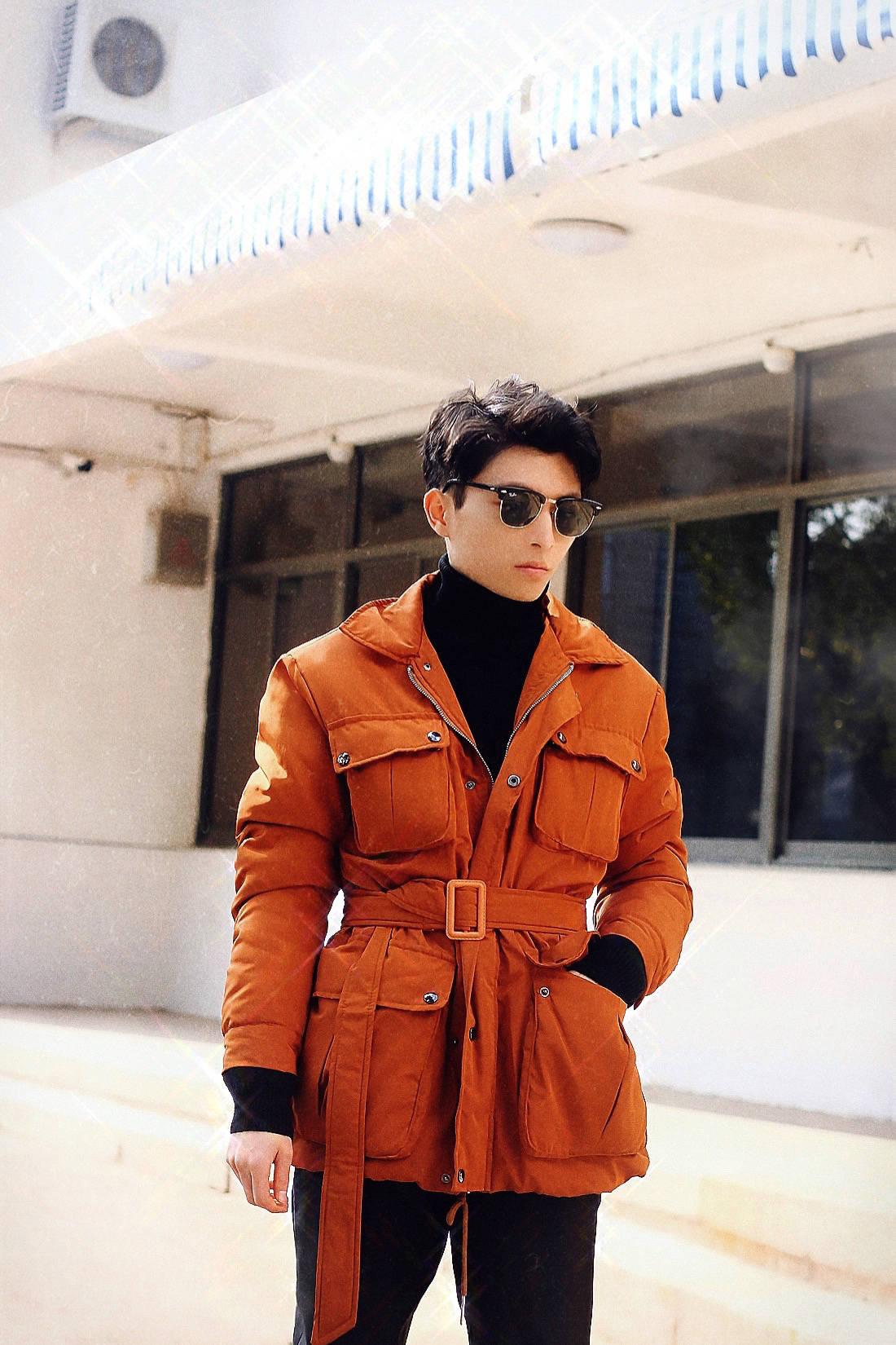 【男士时尚】丨橘色夹克混搭,生活随拍记录...                                   图3