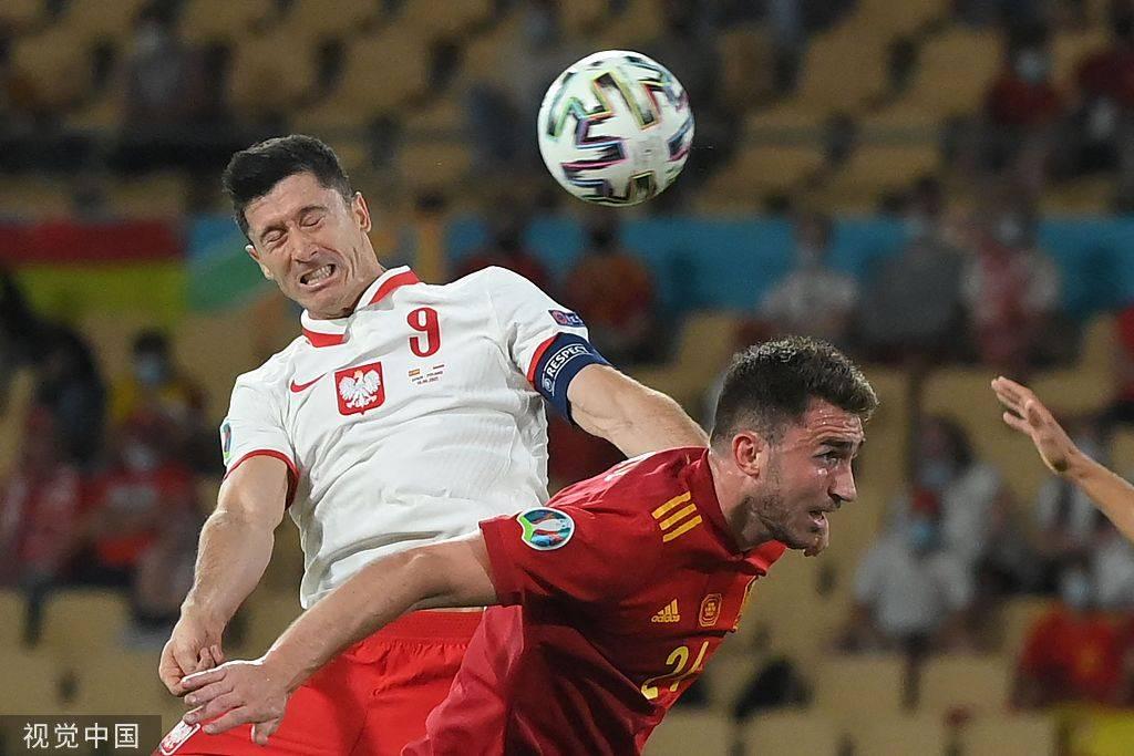 莫拉塔建功莱万破门+失良机 西班牙1-1波兰