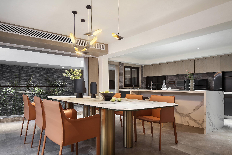 田艾靈作品:600㎡當代中式,裝修花了600萬,豪華的質感美學空間