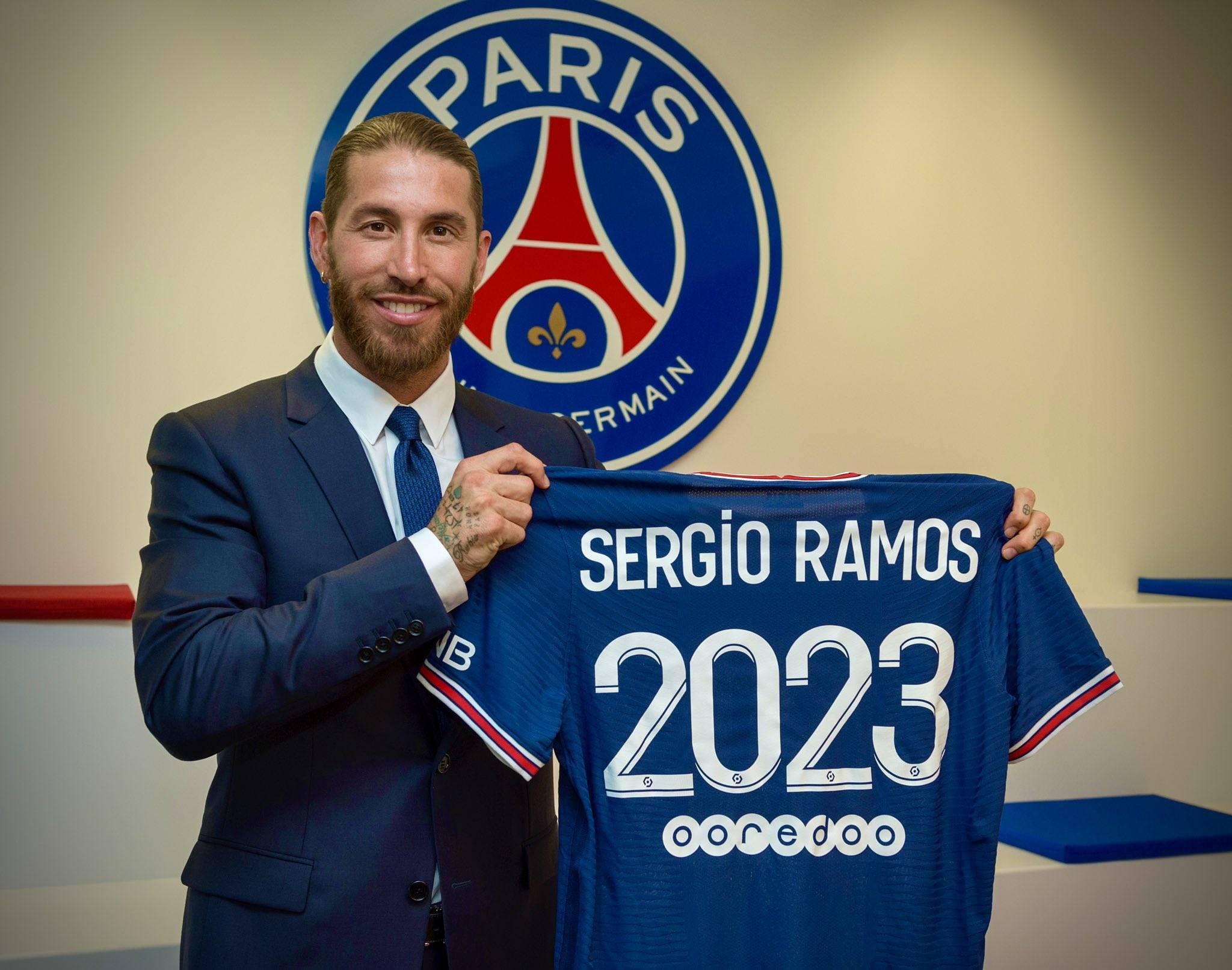 官方:巴黎一天内二次宣布拉莫斯加盟签约至2023年63v
