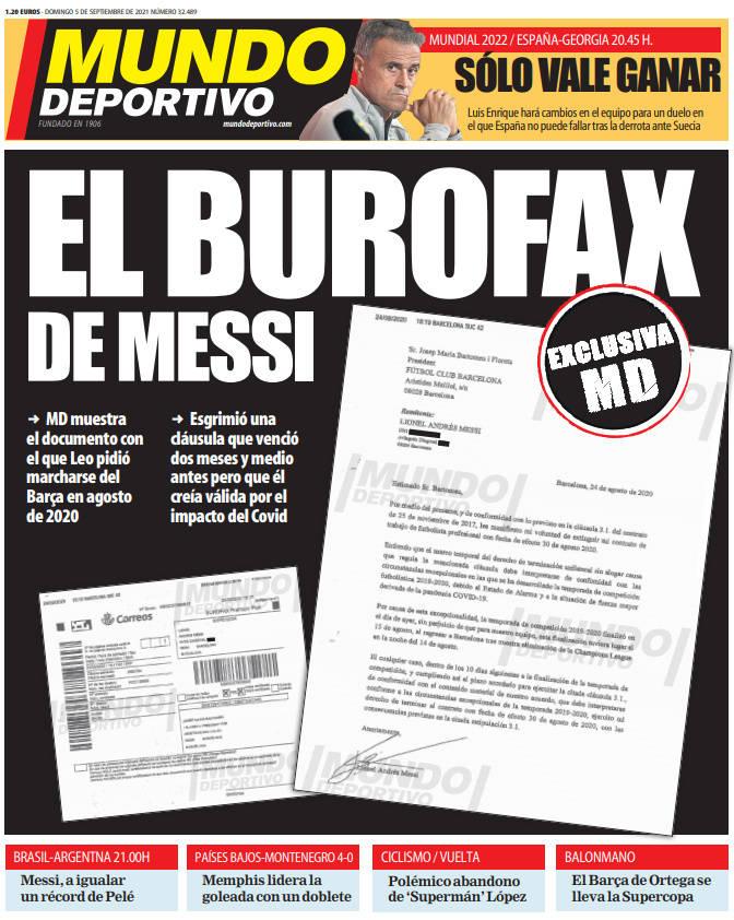 梅西去年离队传真遭曝光:离队条款有限期应该延长