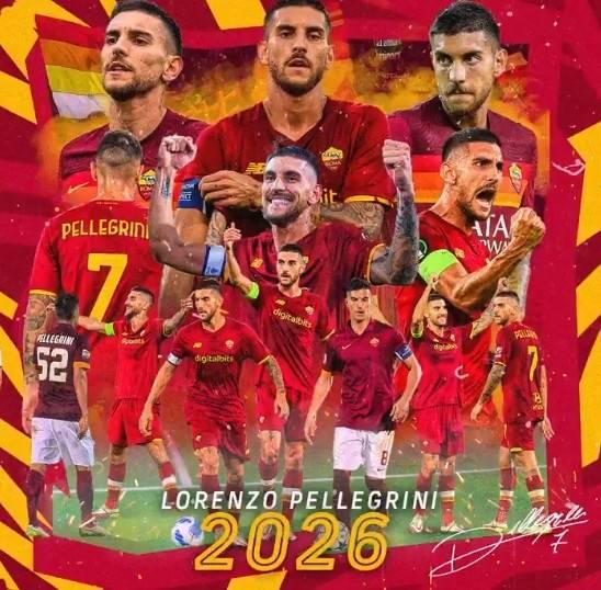罗马官方:球队与佩莱格里尼续约 双方签约至2026年