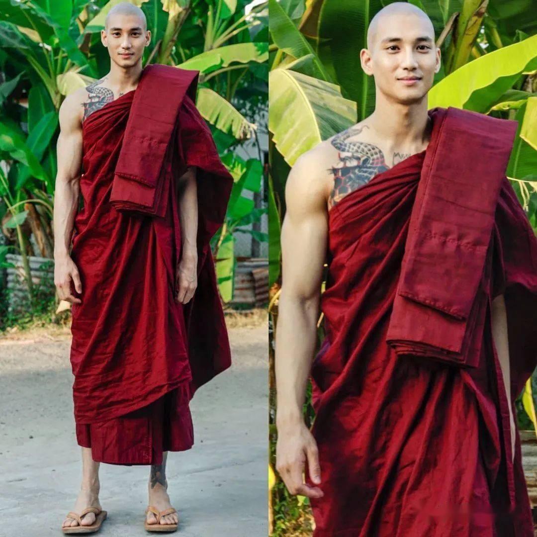 缅甸肌肉和尚一夜爆星辉主管火,无数网友在线鸡叫:看到他就想破戒!