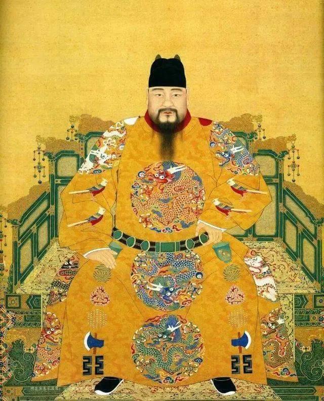 这幅皇帝画的笑佛,竟是佛道儒3人合