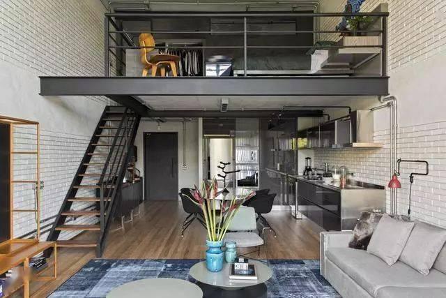 50㎡LOFT公寓,简约的设计,效果却很时尚