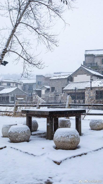 与雪后的古北水镇来一场诗意相遇