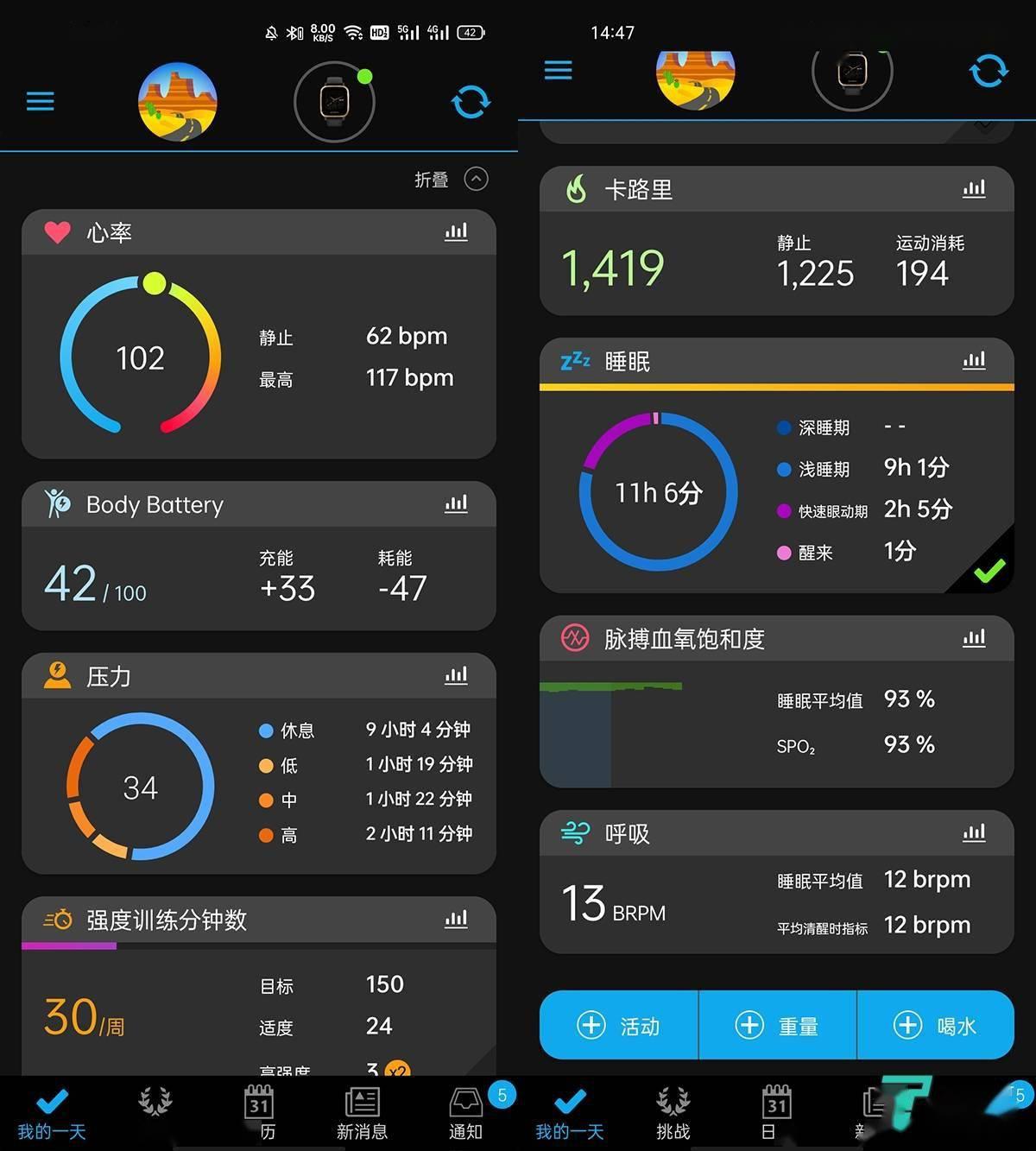 支持血氧、心率实时监测,佳明Venu Sq 音乐版评测   钛极客