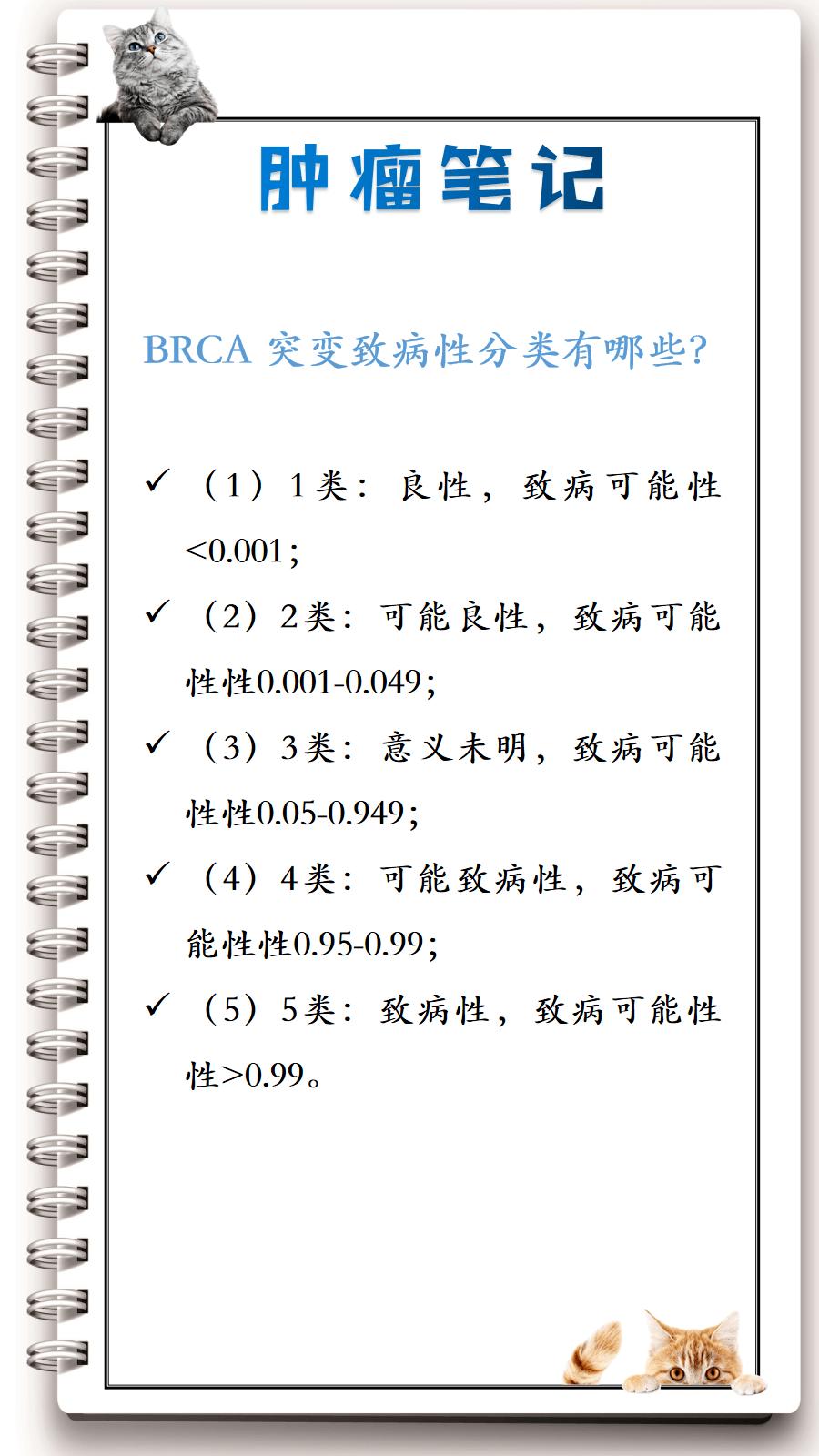 BRCA突变的致病性分类有哪些?