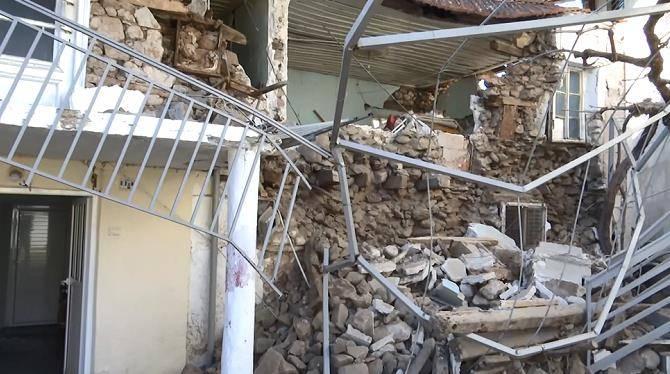 希腊中部拉里萨地区连续两日发生强震 多地电力中断供水浑浊