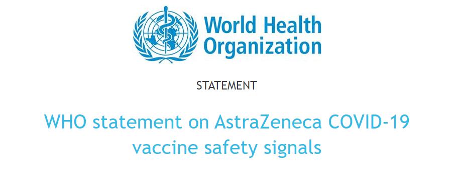 世界卫生组织提议再次打疫苗阿斯利康新冠预苗