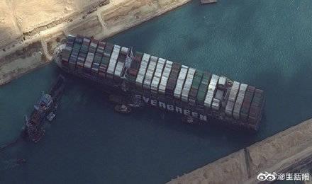 苏伊士运河321艘船只等待通航,苏伊士运河搁浅货轮或在下周脱困