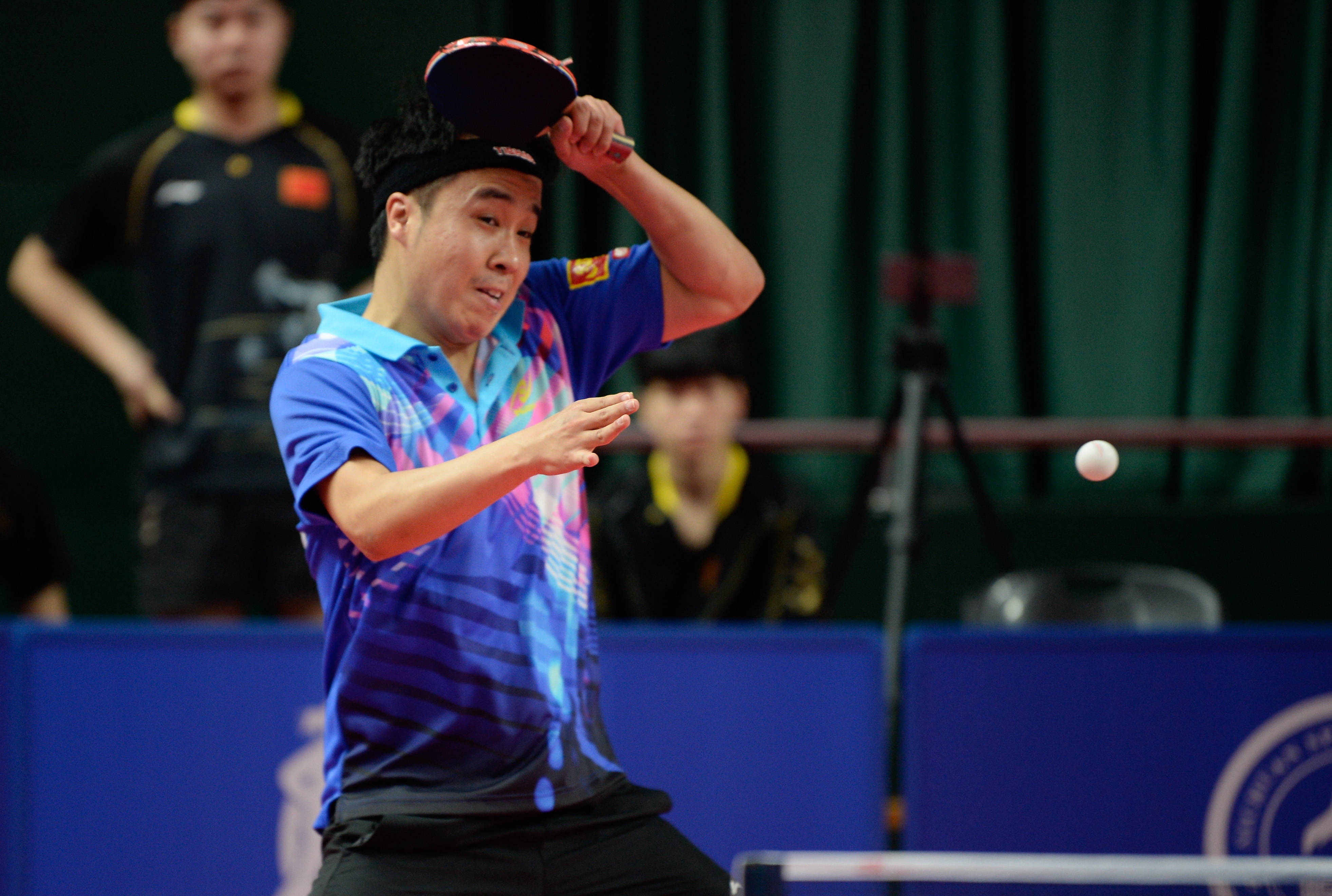 乒乓球——全运会资格赛男团:上海地产集团队胜甘肃队