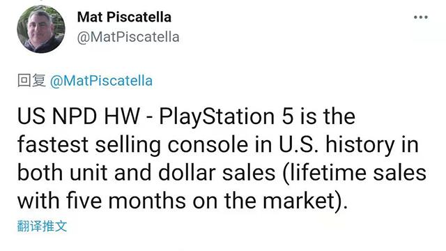 索尼 PS5 成为美国历史上最畅销的游戏主机 销售金额榜稳居第一