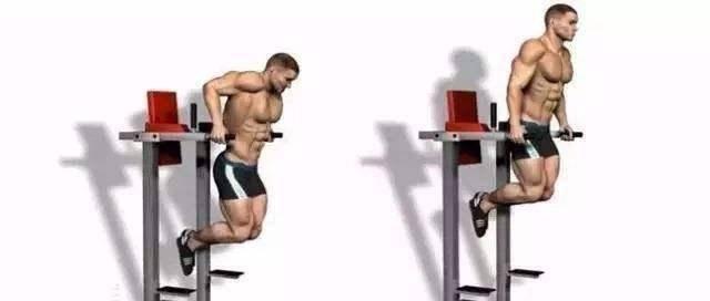 想要锻炼胸肌下沿以及外侧,双杠臂屈伸,不容忽略的训练选择_动作