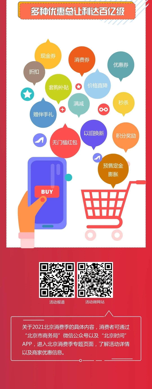 """好消息!2021北京消费季下周启动,""""五一""""假期送出首波实惠!"""