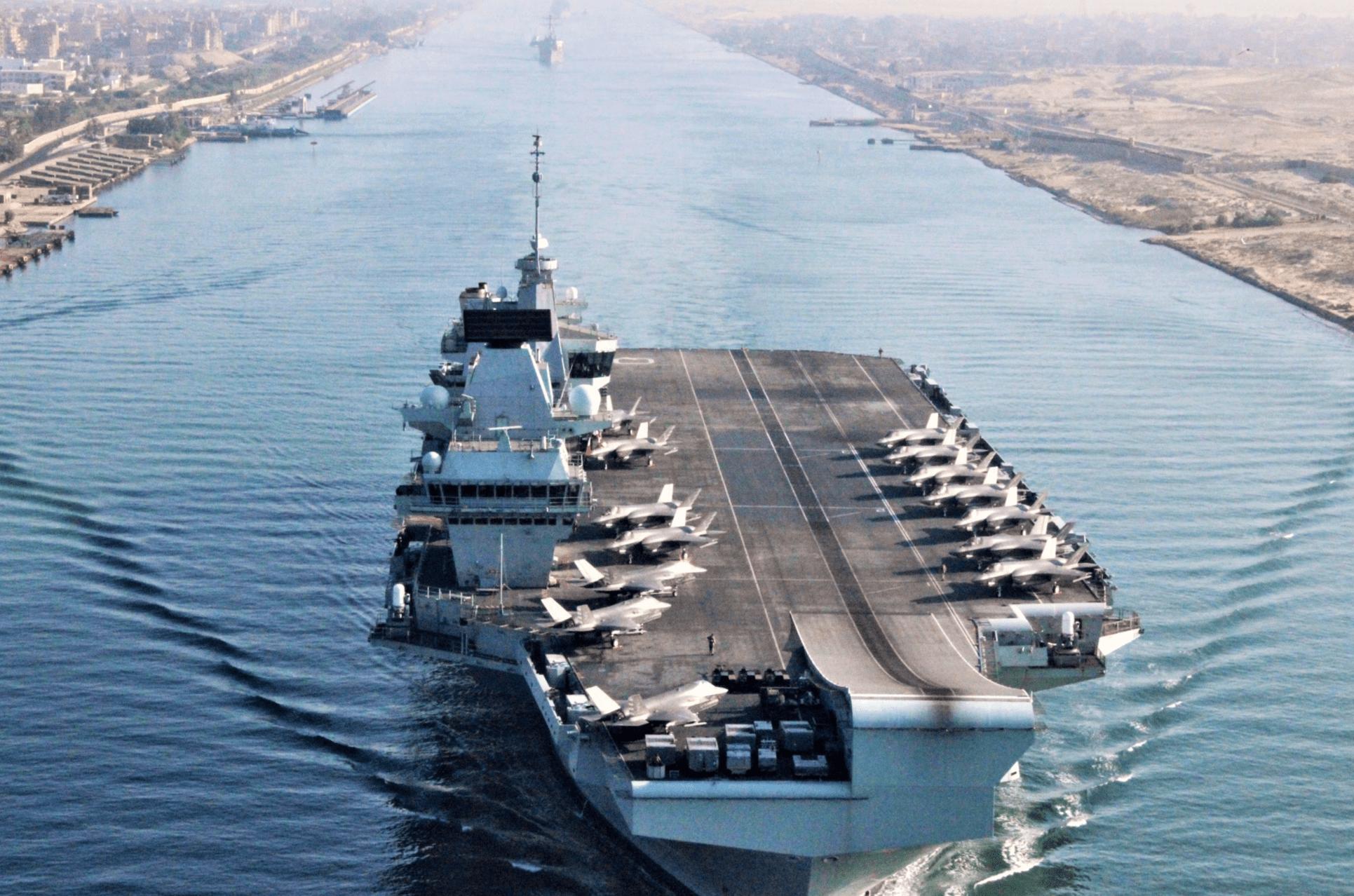 英国女王号航母已经抵达红海 即将奔赴亚太