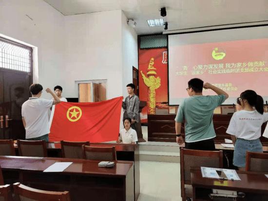 """宝丰县成立大学生""""返家乡""""社会实践临时团支部"""