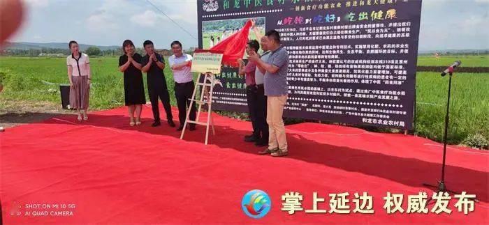 和龙市中医食疗水稻种植示范基地在光东村揭牌