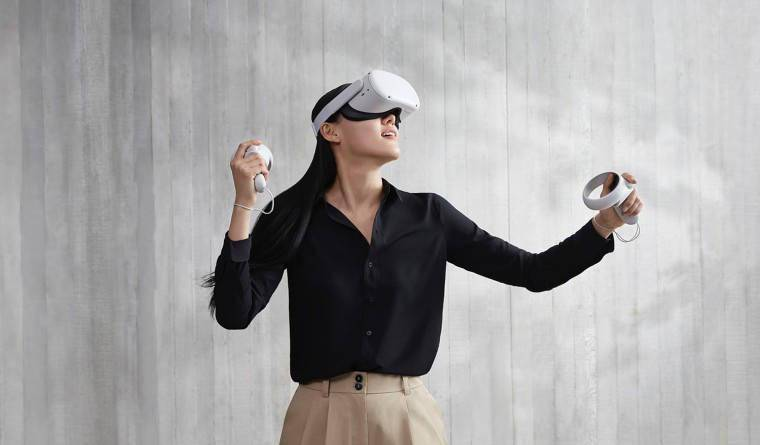Oculus Quest 2 VR 头显固件更新将带来混合现实游戏体验