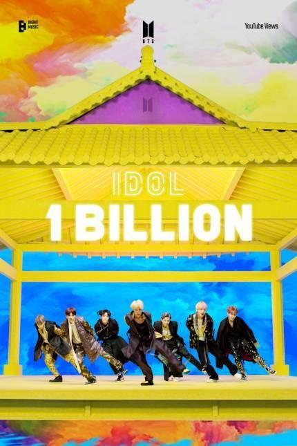 BTS 《IDOL》 MV播放量超10亿次.6号