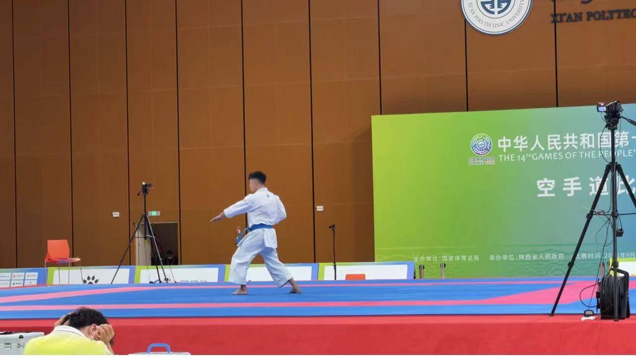 澳门全运史上首枚奖牌!空手道选手郭建恒获得男子个人型比赛铜牌