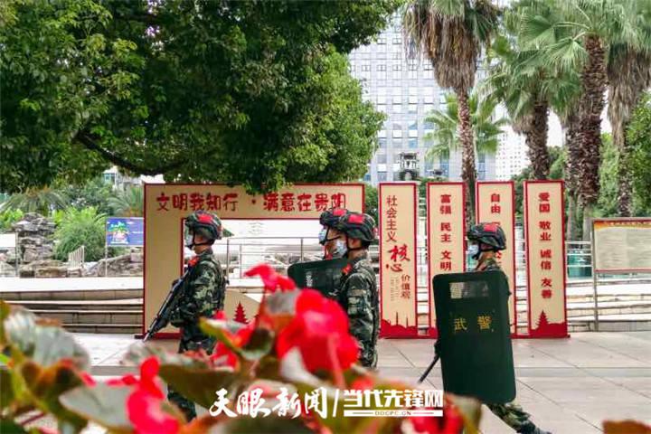 中秋佳节,武警贵阳支队官兵坚守在执勤巡逻一线
