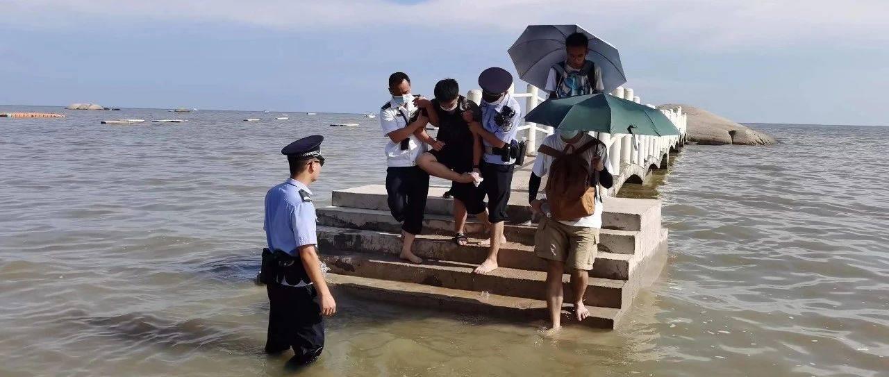 迅速响应|钦州海事局成功救助一名受伤游客