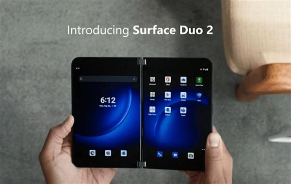 世界最薄5G双屏手机!微软发布折叠屏Surface Duo 2
