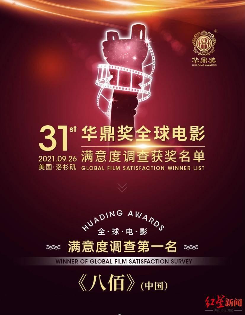 《八佰》获华鼎奖全球电影满意度调查第一名 范伟摘最佳男配角