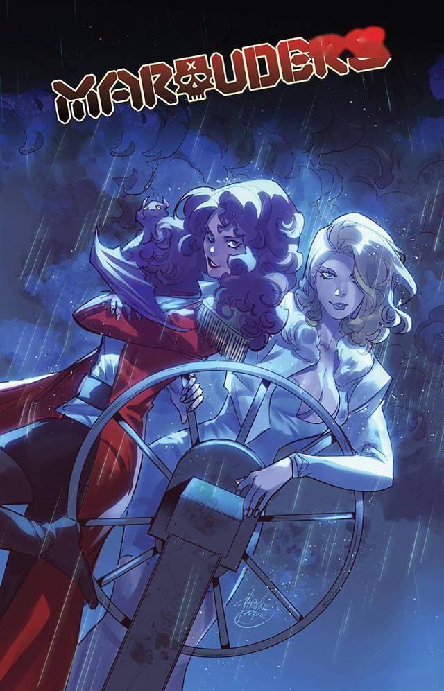 漫威漫画《劫掠者》第25期变体封面人物为「红皇后」凯蒂·普莱德与「白皇后」艾玛·弗斯特