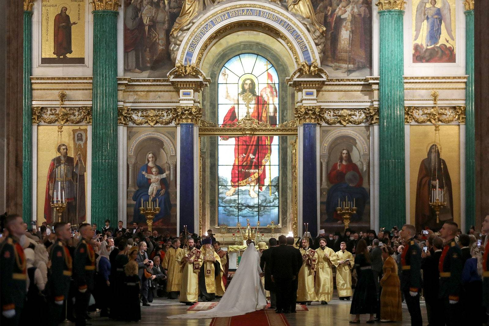 俄罗斯皇室百年一遇的奢华婚礼全景
