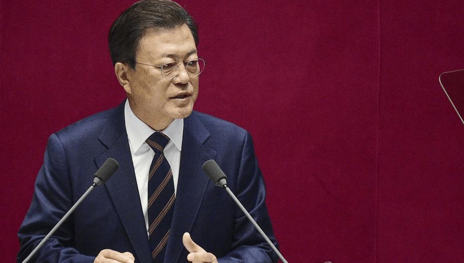 文在寅在韩国国会发表任内最后一次施政演说